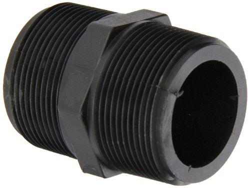 Banjo NIP150-SH Polypropylene Pipe Fitting, Short Nipple, Schedule 80, 1-1/2 NPT Male, 2-1/2 Length