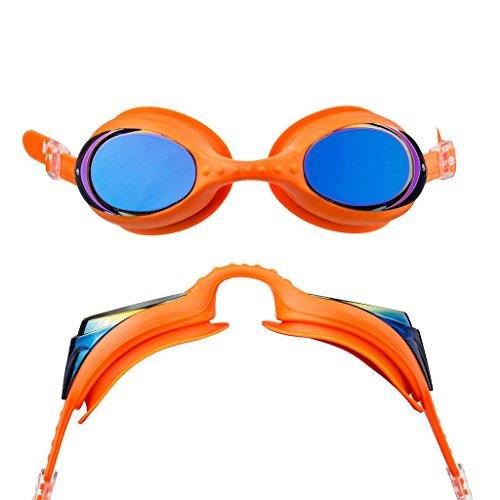 Blueseventy Element Lunettes De Natation Miroir - Orange / Bleu