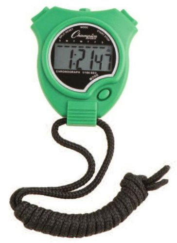 Champion Sports Stopwatch Color  Green (910GN), One Size