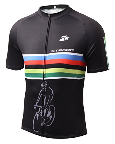 (Strgao Mens Short Sleeves Cycling Jersey Szie 3XL)