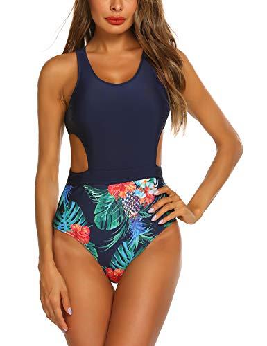 (Ekouaer Swimwear Women's One Piece Swimsuit Swimming Sexy Slimming Monokini Backless Bathing Suits)