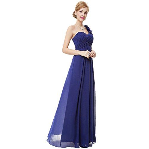 Loel Women\'s Flower One Shoulder Long Bridesmaid Dress Chiffon Plaza ...