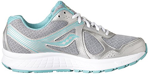 Saucony Mujeres Cohesion 10 Running Shoe Gray | Teal | Cidra