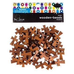 Dark Brown Wooden Cross Beads (Crafts Wooden Cross)