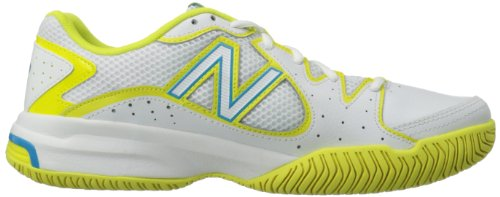 888098094114 - New Balance Women's WC786 Tennis Shoe,White/Yellow,7.5 2A US carousel main 5