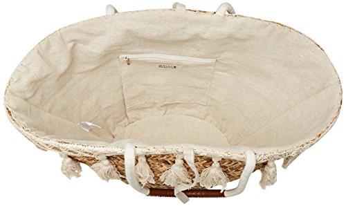 Molly Bracken Panier Pompon - Borse a mano Donna, Bianco (Offwhite), 16.5x27.5x50 cm (W x H L)