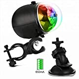 Meili Rechargeable Disco Party Lights for Bike/Car- Blinking Tri-Colored LED Bicycle Accessory Light for Fun