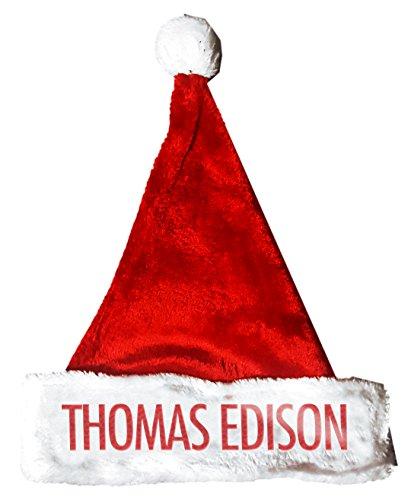 THOMAS EDISON Santa Christmas Holiday Hat Costume for Adults and Kids u6 - Thomas Edison Costume