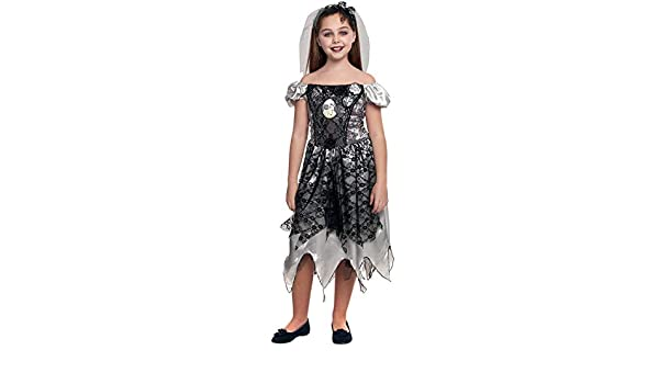 Partilandia Disfraz Novia Fantasma Holograma para niña(4-6 años ...