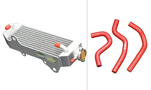 FOR HONDA CR80R/B;CR80 1997-2002/CR85R/RB CR85 2003-2008 04 05 ALUMINUM radiator & hose red (with stopper+hose red) (Honda Cr85)