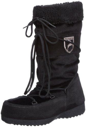 Tamaris Tamaris-ACTIVE 1-1-26701-29 - Botas de nieve de cuero para mujer Negro
