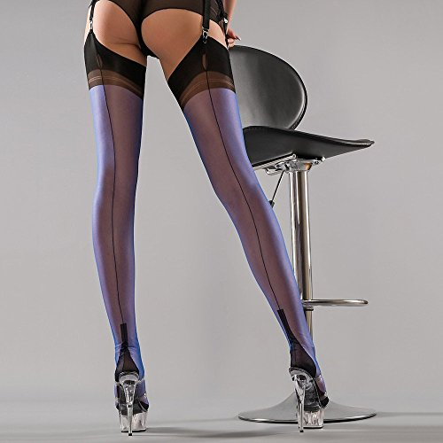 938fbbe00 Gio Women s Cuban Heel Fully Fashioned Stockings - FULL CONTRAST at Amazon  Women s Clothing store