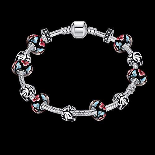 WSZMD Classic Bracelet Ornament Elegant Bracelet Fashion Loose Beads DIY Bracelet European and American Silver Bell Beaded Jewelry