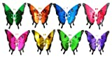 Exhart Environmental Systems 50201 Windywings, 7'', Butterfly Plant Stake, Assorted Colors & Designs - Quantity 24