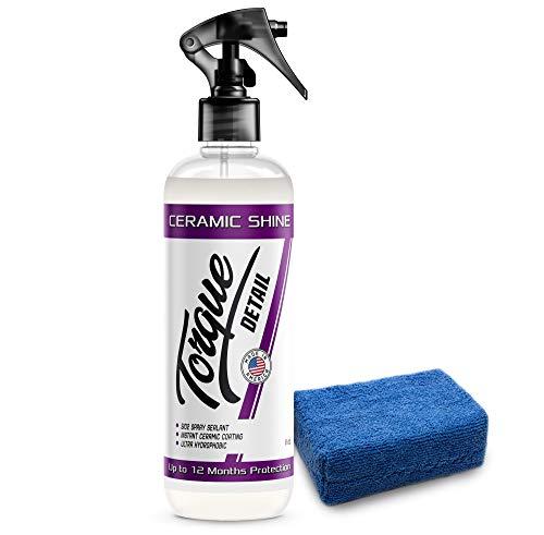 Ceramic Shine - Easy to Apply, Ceramic Coating Spray - Proprietary Silica Formula (Nano SiO2) Seals & Shields Car's Clear Coat - Hydrophobic Protection & High-Gloss Shine (8 oz)