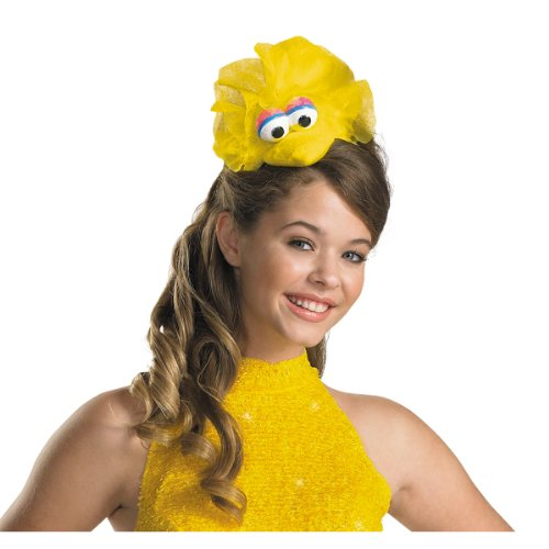 Disguise Women's Sesame Street Big Bird Adult Costume Headband, Yellow, One Size