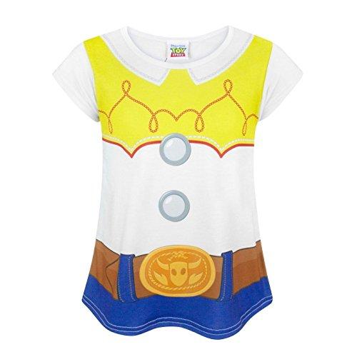Toy Story Disney Childrens Girls Jessie Costume T-Shirt (11-12 Years) (White) -