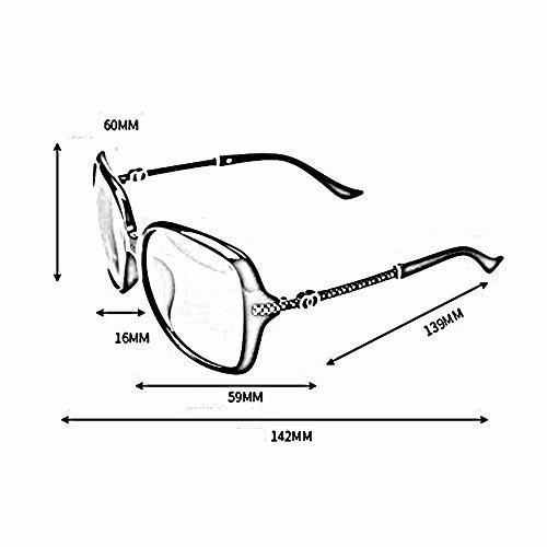 UV Redonda Gafas De Moda De Anti Tea Cara Diamante De Rojo Luz Polarizada Imitación WX Color Grande xin Sol Hembra Gafas Caja Conducción gxwPq8PAfT