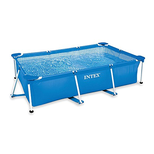 Intex 85#039 x 53#039 x 213#039 Rectangular Frame Above Ground Backyard Swimming Pool