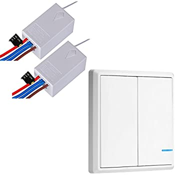 amazon com wireless light remote switch kit for lamps ceiling fans rh amazon com