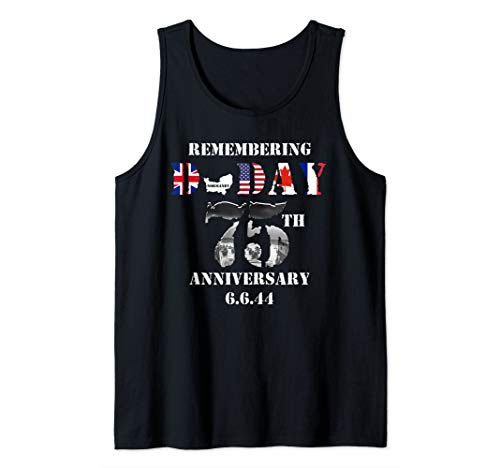 D-day Tank - 75th Anniversary Of D-Day 1944 June 6 WWII Memorial Veteran Tank Top