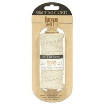 Beadsmith Hemp Twine Bead Cord .5mm 394 Feet NATURAL 42655
