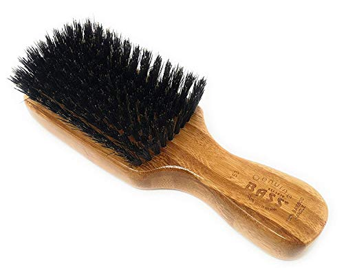 Brush Pure Bristle Wood Handle - BASS 100% Pure Wild Boar Bristle Men's Brush - Light Wood Handle by Bass Brush