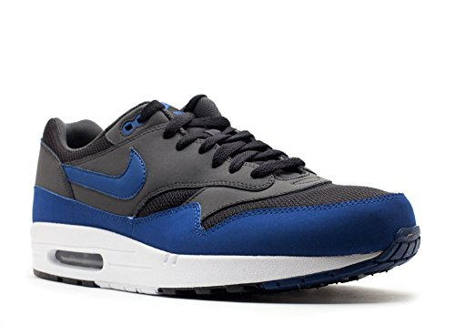 Nike Men's Air Max 1 Essential Trainers Black/Dark Rotal Blue-anthracite-white