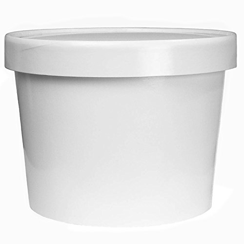 32 oz Containers And Lids - White Paper Heavy Duty Containers - Quart Food Storage Containers With Vented Lids! Perfect For Soups, and So Much More! Fast Shipping! Frozen Dessert -