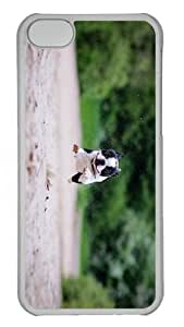 cool covers boston terrier funny run PC Transparent case for iphone 5C