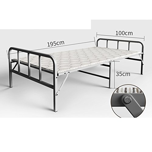 JKAPWQOILUXHWTX Simple Wooden Bed/Rigid Folding Bed/Single Bed/Office Lunch Bed/nap Bed/Escort Bed-F