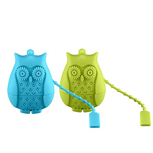 MadCat Silicone Owl shaped strainer 2PCS Blue product image