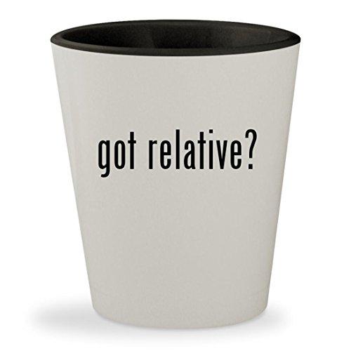got relative? - White Outer & Black Inner Ceramic 1.5oz Shot