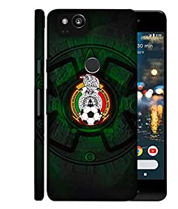 ColorKing Football Mexico 08 اسود shell case cover for Google Pixel 2