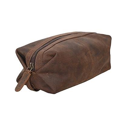 KomalC Genuine Unisex Vintage Vanity Dopp Kit - Travel Toiletry Bag Shaving  for Men and Women 62514a97e56f0