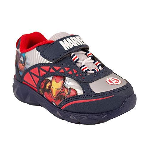 Favorite Characters Boys Marvel Avengers Lighted Sneaker (Toddler/Little Kid), Size 11 Navy -