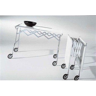 Kartell 44602P Rollwagen Battista Platte Polyester glänzend lackiert weiß