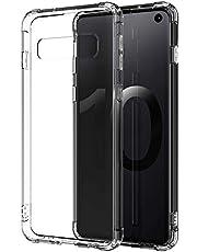 ARGOO Funda Samsung S10 Plus,S10+ Carcasa Delgada y Transparente con Refuerzo en Las Esquinas Parachoques y Resistente a Arañazos TPU Flexible para Samsung Galaxy S10 Plus, Soporte de carga inalámbrica