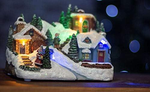 Christmas Carol Village Ornament Decoration Colour Changing LED Lights And Sound