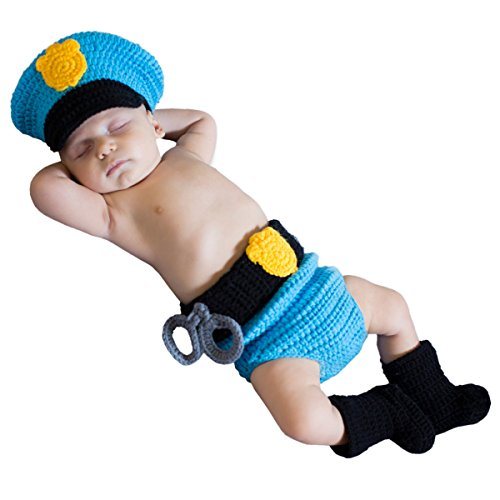 Princess Paradise Baby Boys' Mr. Police Officer, Blue 0/3 -