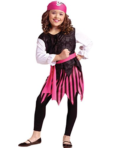 Fun World Girls Caribbean Pirate Girl Costume - Child Small -