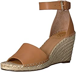 Vince Camuto Women's Leera Espadrille Wedge Sandal, Tan, 8 Medium Us