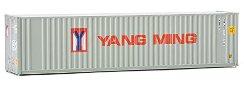 (Walthers Trainline 40' Hi-Cube Corrugated Container w/Flat Roof Yang Ming - Assembled Train Collectable Train)