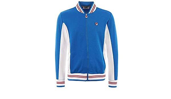 Fila Vintage Settanta Mk1 Track Top Royal/White: Amazon.es ...
