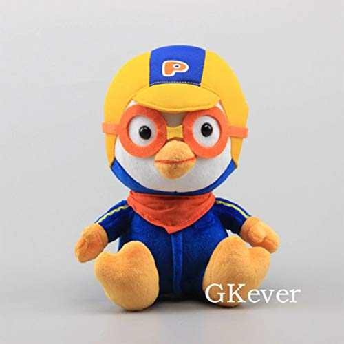 LQT Ltd Top Stuffed Animal Kawaii Korea Pororo Penguin Plush Toy Doll 23 cm 9'' Sitting Style Penguin Pororo Yellow Penguin Stuffed -