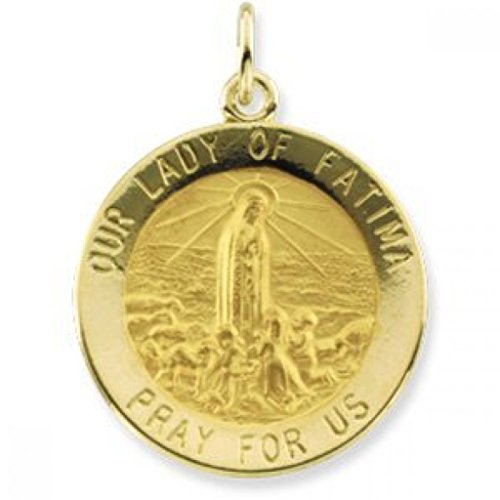 14K Gold Our Lady of Fatima Religious Medal