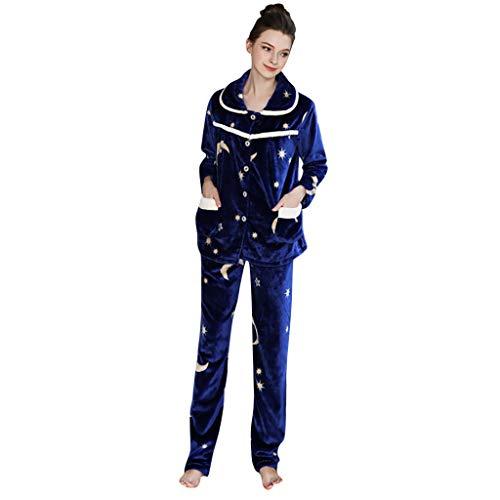 - Simayixx Sleep Clothes for Women, Teen Girls Cotton Nightgown Fleece Sleepwear Cute Long Sleeves Sleepshirt 2 Set