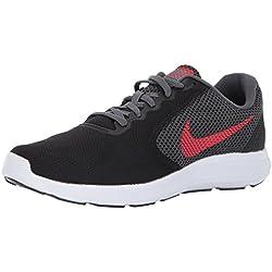 NIKE Men's Revolution 3 Running-Shoes, Black/University Red/Dark Grey, 11 D(M) US