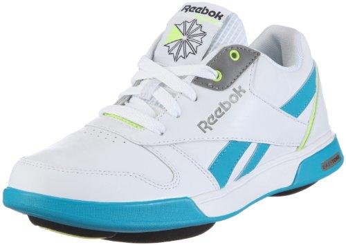 Reebok Easytone Rockeasy Low, basket femme Blanc - Weiss/WHITE/FEATHER BLUE/NEON YELLOW/BLACK/PEWTER