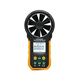 Nicexiongdei Digital Anemometer Anemometer with Temperature and Humidity Test Wind Speed Wind Meter Handheld Digital Anemometer